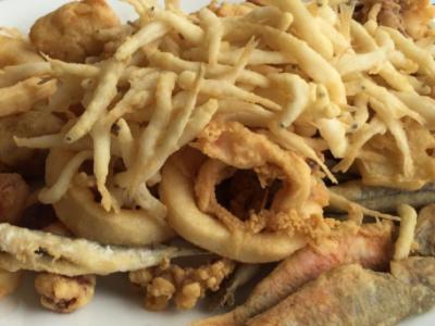 Chiringuito de pescados fritos en Torremolinos